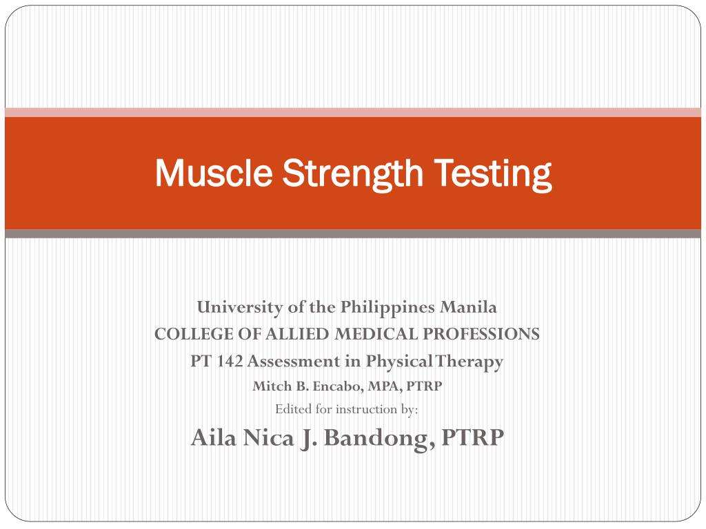 muscle strength testing l.