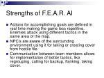 strengths of f e a r ai