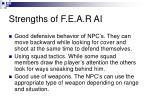 strengths of f e a r ai14