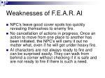 weaknesses of f e a r ai16