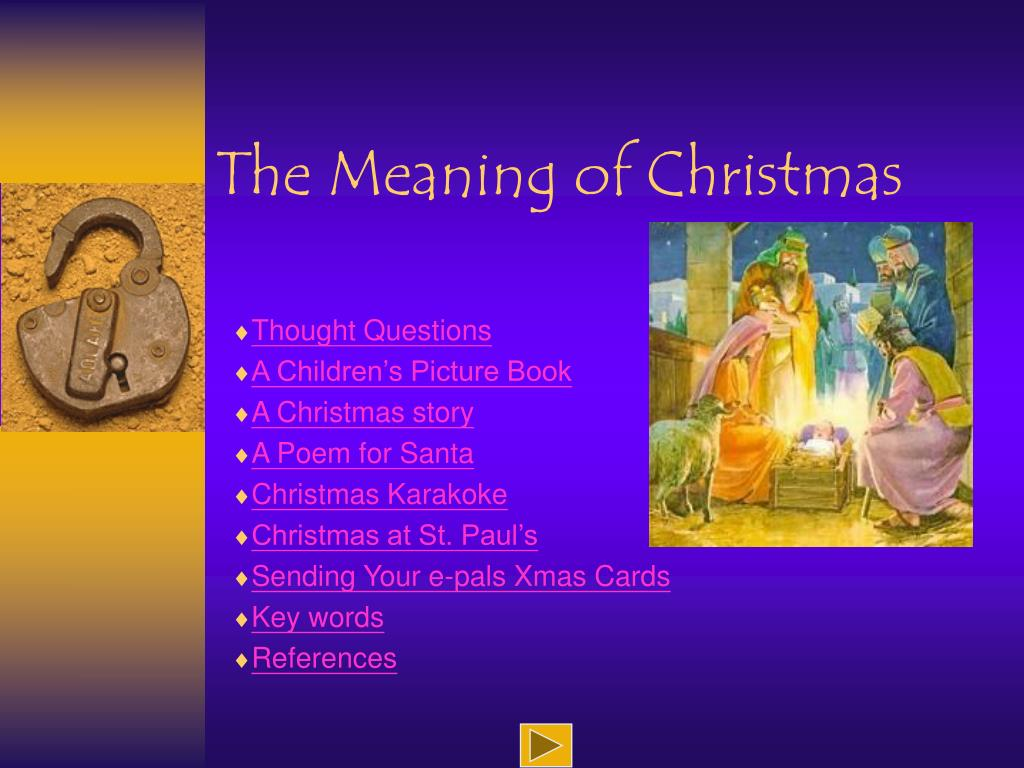 the meaning of christmas l.
