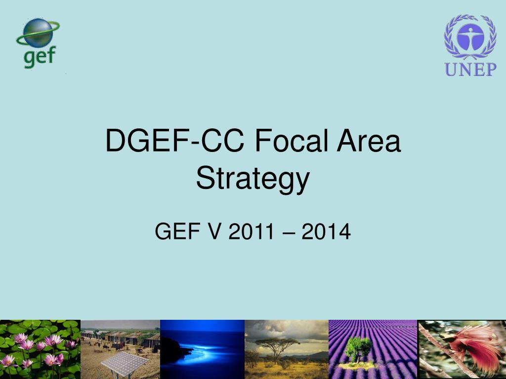 dgef cc focal area strategy l.
