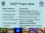 dgef project ideas