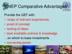 unep comparative advantages