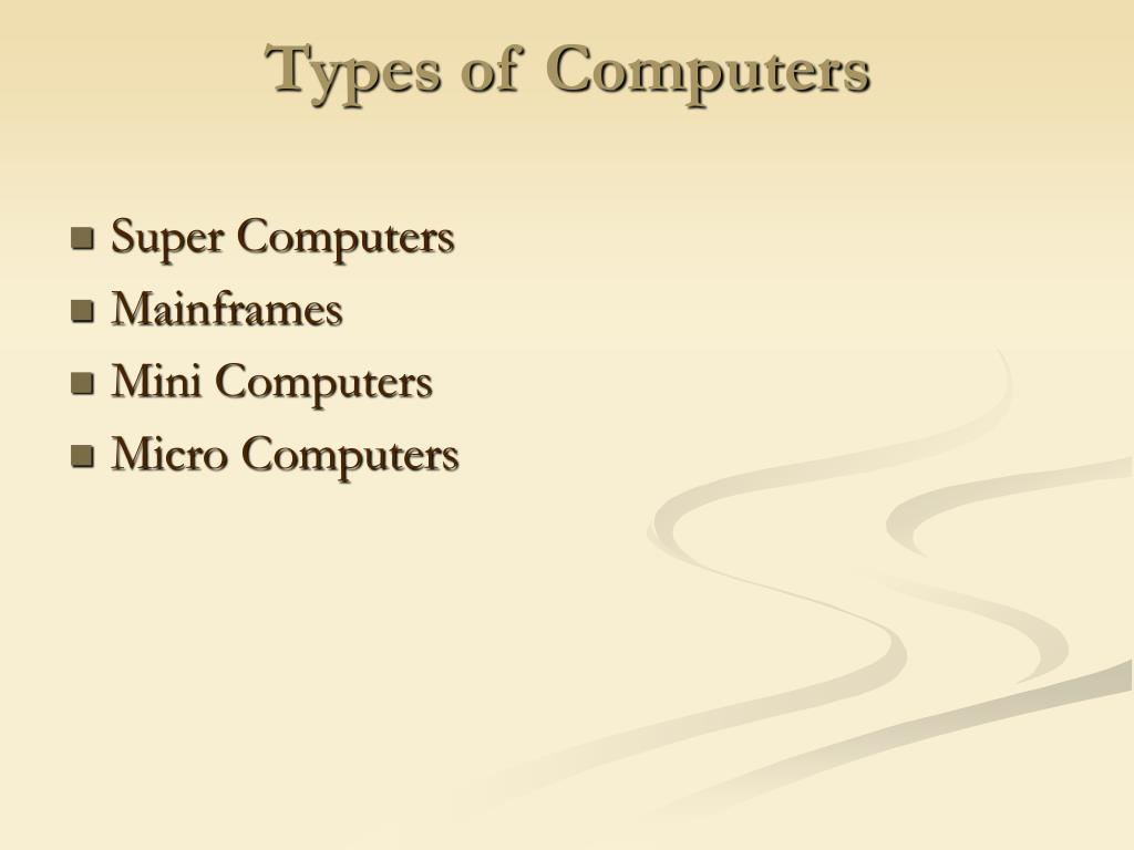 types of computers l.
