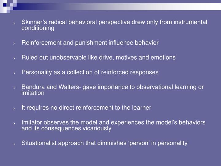 behavioral approach to personality