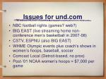 issues for und com