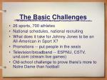 the basic challenges