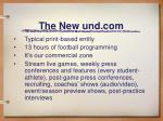 the new und com