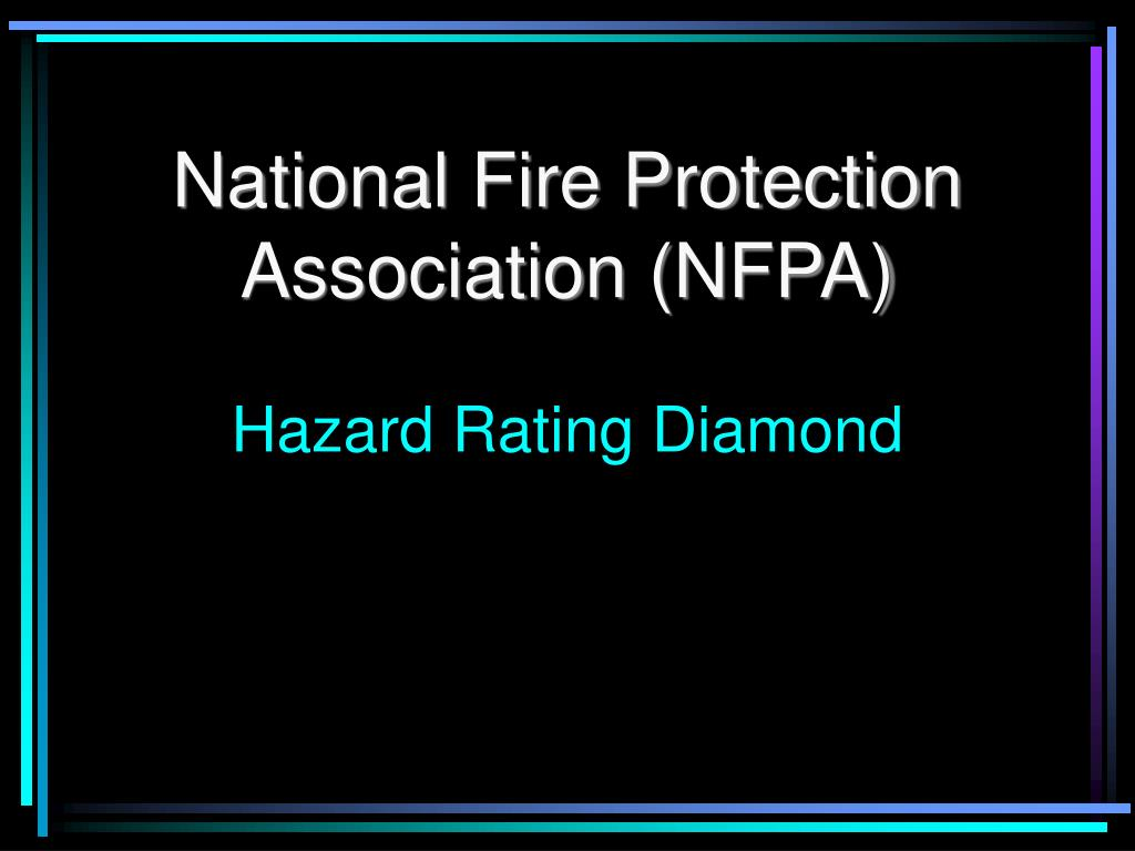 national fire protection association nfpa hazard rating diamond l.