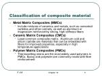 classification of composite material