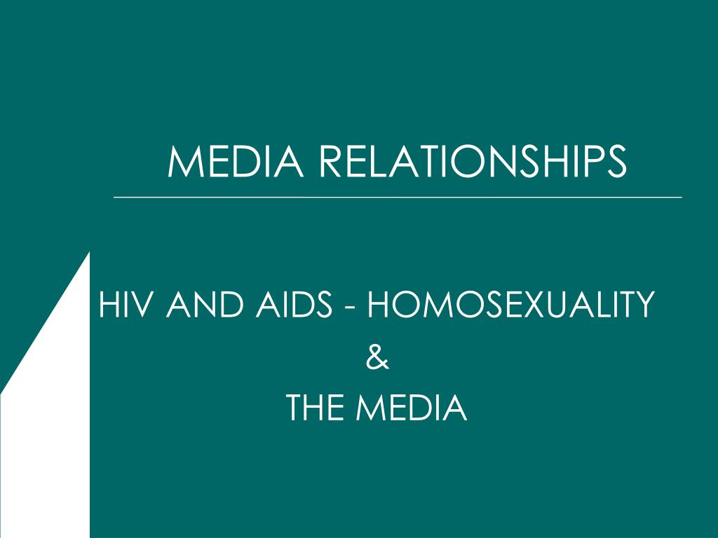 hiv and aids homosexuality the media l.