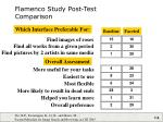 flamenco study post test comparison