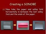 creating a sonobe55