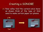 creating a sonobe57