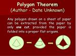 polygon theorem author date unknown