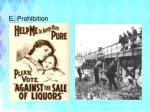 e prohibition