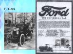 f cars