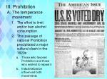 iii prohibition