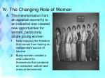 iv the changing role of women