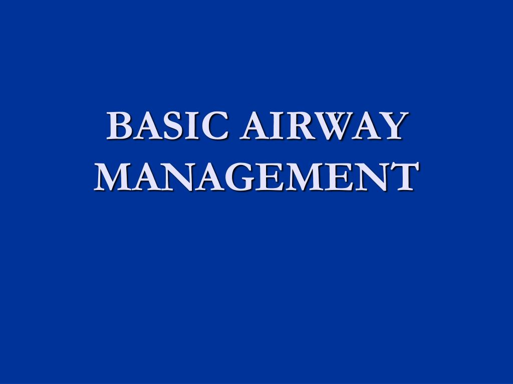 basic airway management l.