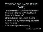 weisman and klemp 1982 wk