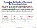 calculating the number of bonds and the remaining electrons