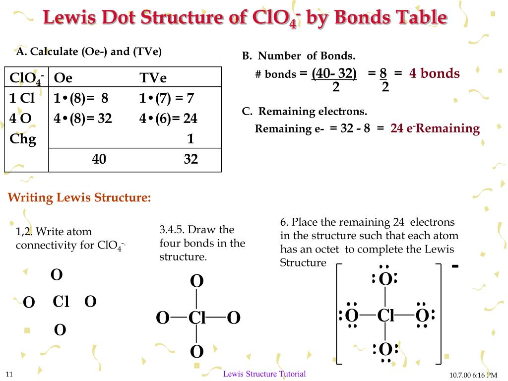 PPT - Drawing Lewis Structures A Tutorial on Writing Lewis Dot Structure PowerPoint ...  Lewis