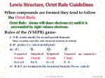 lewis structure octet rule guidelines