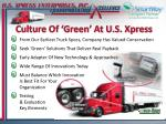 culture of green at u s xpress