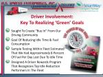 driver involvement key to realizing green goals