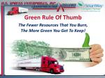 green rule of thumb