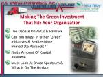making the green investment that fits your organization