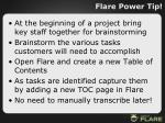 flare power tip