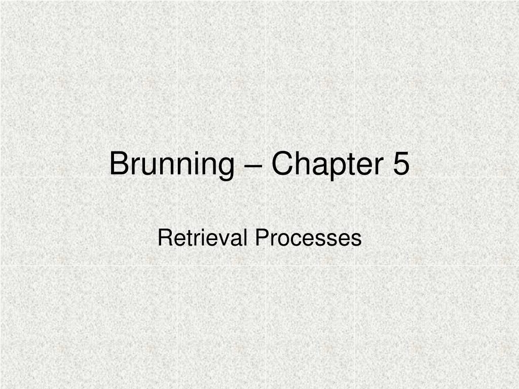 brunning chapter 5 l.