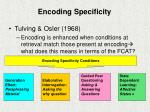 encoding specificity