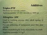 triplex ptf thickener for viscosity control applying quantity x for viscosity ca 5000 cps