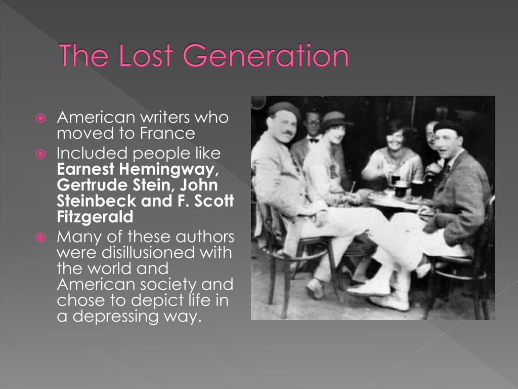 fitzgerald and the lost generation