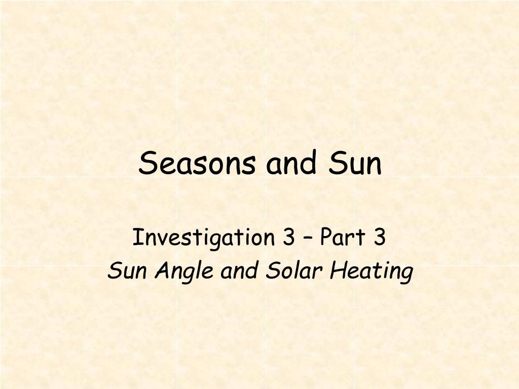seasons and sun l.
