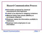 hazard communication process