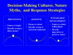 decision making cultures nature myths and response strategies
