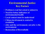 environmental justice key factors
