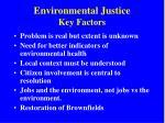 environmental justice key factors