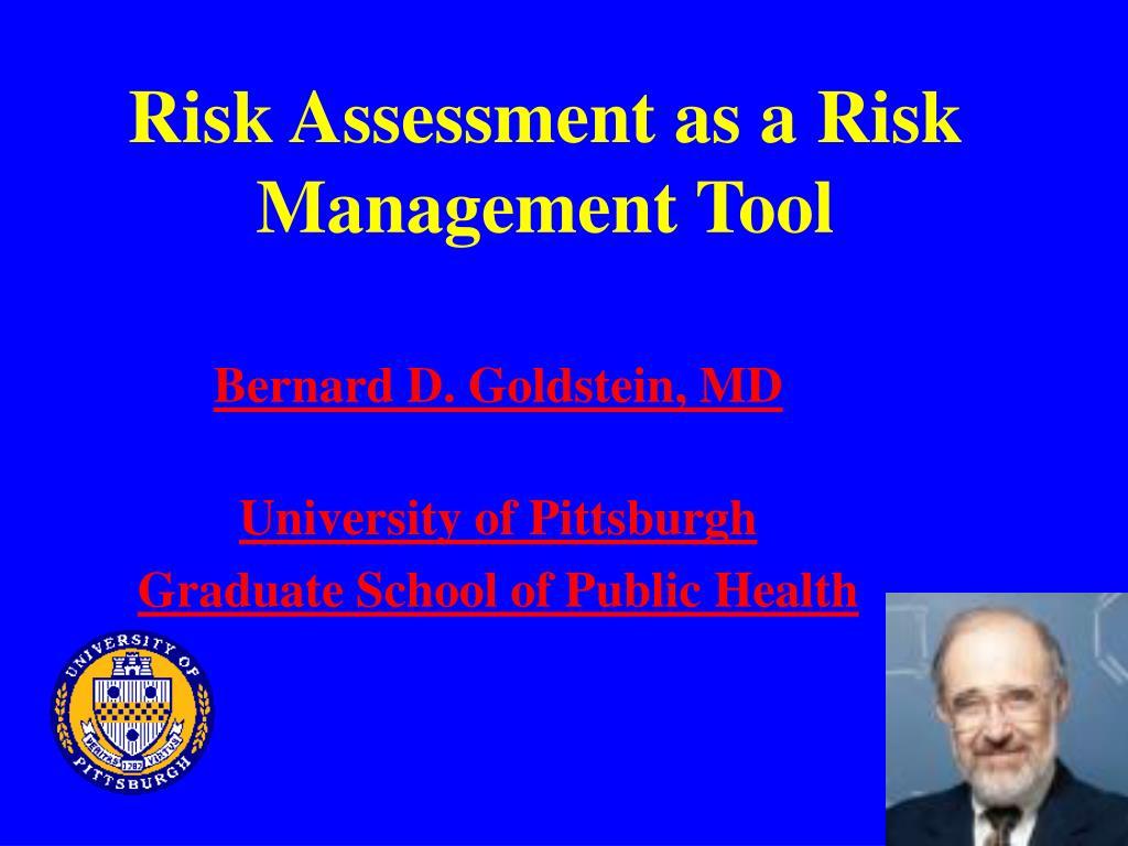 risk assessment as a risk management tool l.