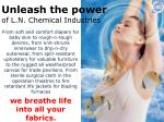 unleash the power of l n chemical industries