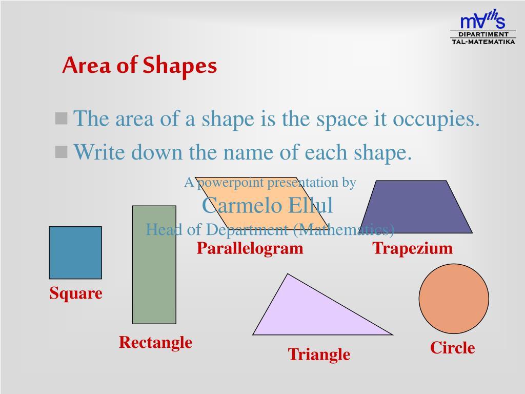 area of shapes l.
