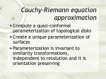 cauchy riemann equation approximation