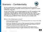 scenario confidentiality