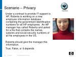 scenario privacy