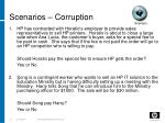 scenarios corruption
